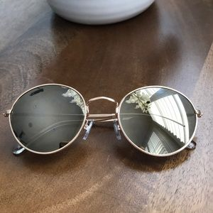 Women's Round Sunglasses by H&M Gold Frame